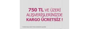 750 TL ve Üzeri Tüm Alışverişlerde Kargo BEDAVA!
