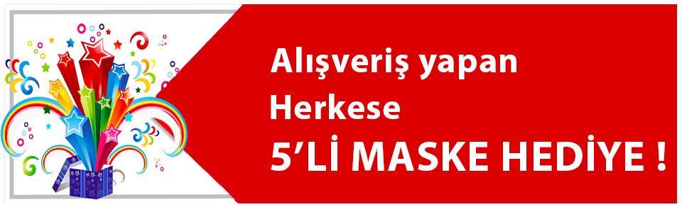 ALIŞVERİŞ YAPAN HERKESE 5'Lİ MASKE HEDİYE