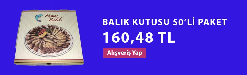 BALIK KUTUSU 50'Lİ PAKET
