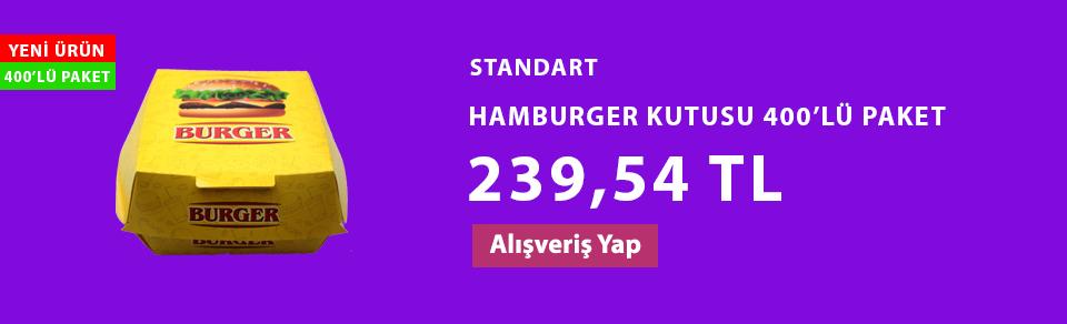 STANDART HAMBURGER KUTUSU 400'LÜ PAKET