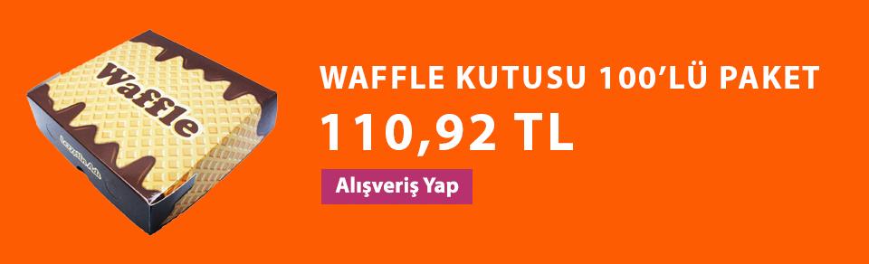 WAFFLE KUTUSU 100'LÜ PAKET