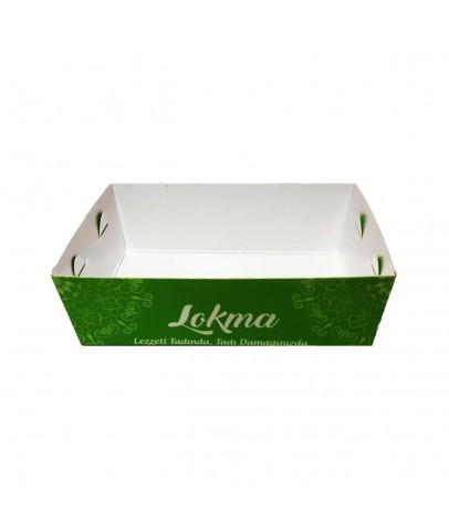 Lokma Kutusu (Yeşil) 500'lü Paket